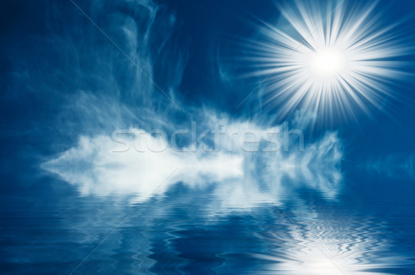 Sole nubi sopra mare nice cielo blu Foto d'archivio © lypnyk2
