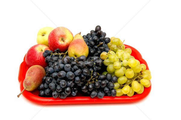 Fruits and bunches of grapes. Stock photo © lypnyk2