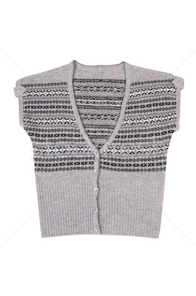 Modern warm waistcoat on a white. Stock photo © lypnyk2