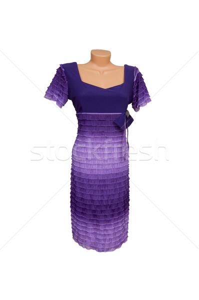 Fioletowy sukienka biały wspaniały fioletowy Zdjęcia stock © lypnyk2