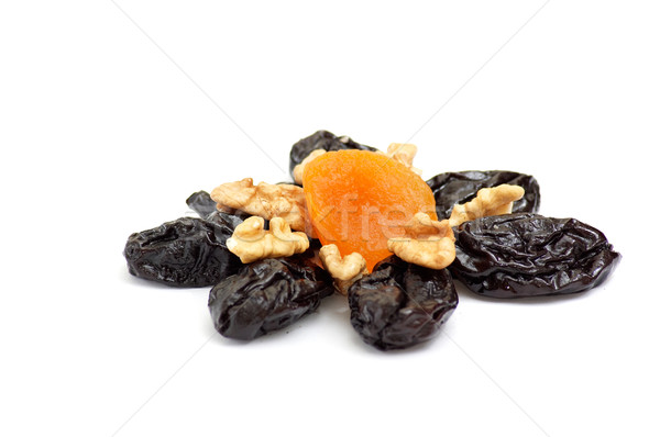 Aszalt fehér minta izolált étel csoport Stock fotó © lypnyk2