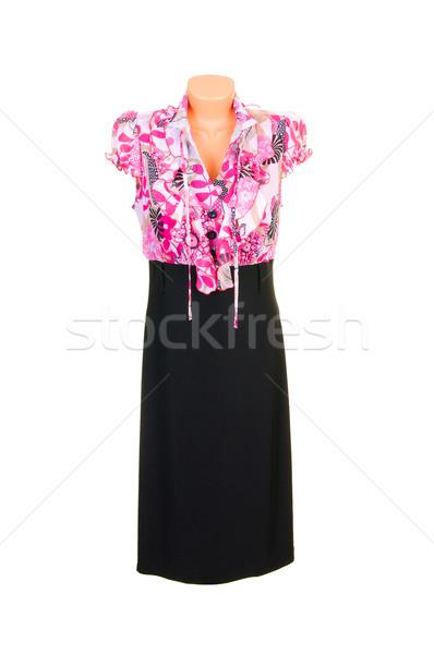 Modern dress on a white. Stock photo © lypnyk2