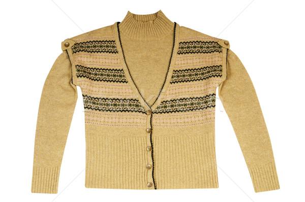 Caldo maglione bianco inverno Foto d'archivio © lypnyk2
