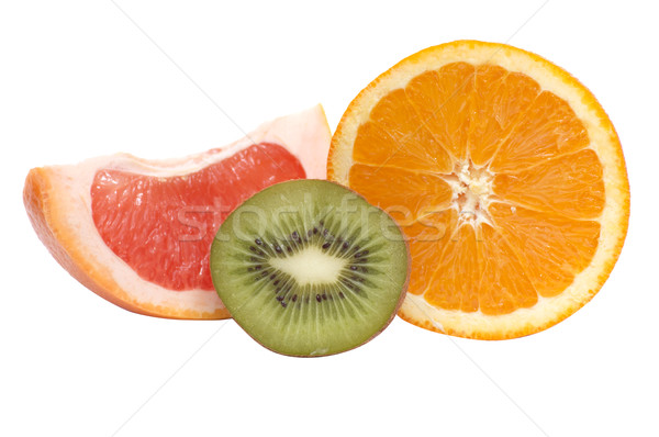 Segments of kiwi,orange and grapefruit. Stock photo © lypnyk2