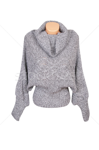 Modern gray sweater on a white. Stock photo © lypnyk2