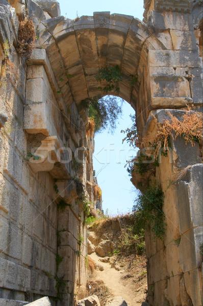 Old greek ruined theater in Myra, Turkey. Stock photo © lypnyk2
