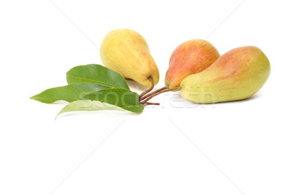 Splendid,tasty pears on a white. Stock photo © lypnyk2