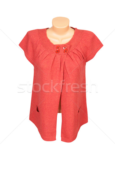 Elegant  red  tunic on a white. Stock photo © lypnyk2