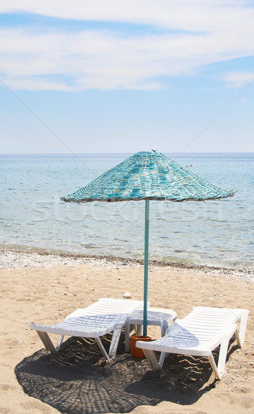 Ombrellone spiaggia resort cielo mare bellezza Foto d'archivio © lypnyk2