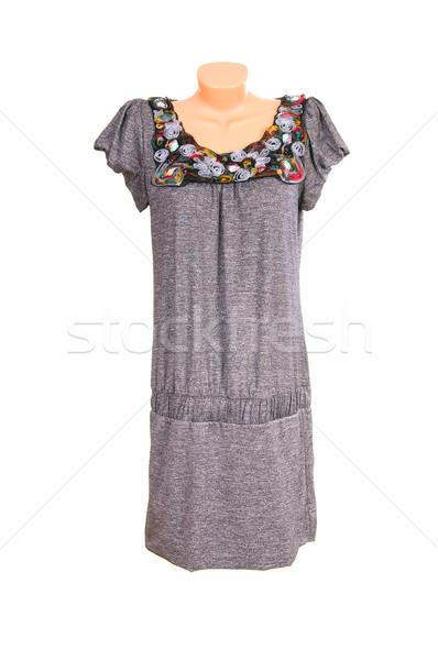 現代 シック グレー ドレス 白 高級 ストックフォト © lypnyk2