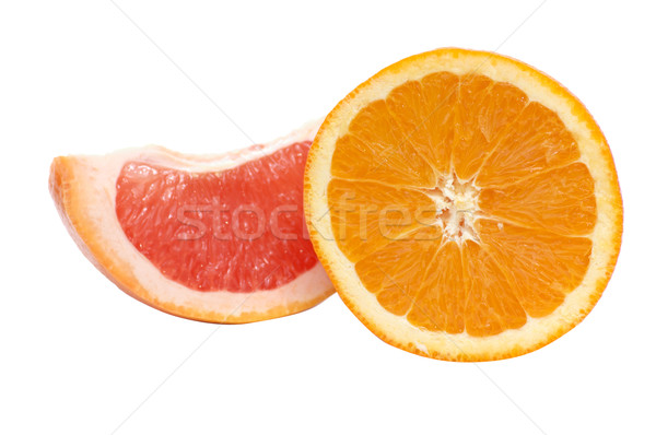 Segments of orange and grapefruit. Stock photo © lypnyk2