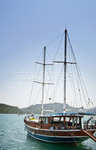 Wonderful yachts in the bay. Turkey. Kekova. Stock photo © lypnyk2