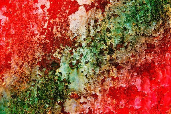 Grunge texture of old wall with rusty spots. Stock photo © lypnyk2