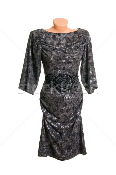 Modern black-gray dress on a white. Stock photo © lypnyk2