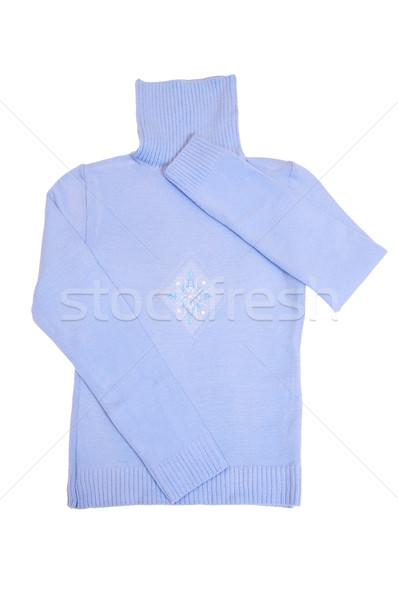 Splendid warm sweater on a white. Stock photo © lypnyk2