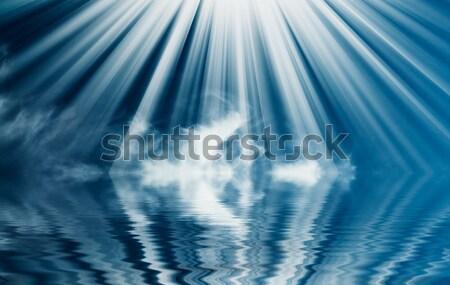 Mooie blauwe hemel wolken boven oceaan fantastisch Stockfoto © lypnyk2