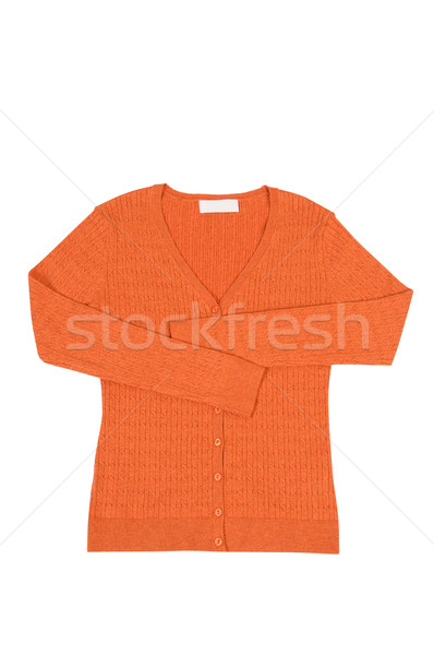 Elegant orange jumper  on a white. Stock photo © lypnyk2
