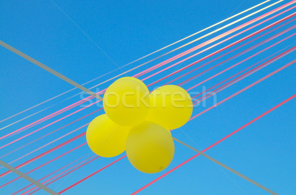 Miraculous  balls  high in the sky. Stock photo © lypnyk2