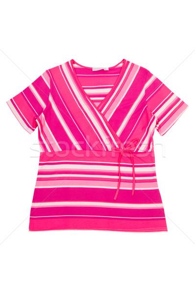 Surpreendente listrado vestir maravilhoso túnica isolado Foto stock © lypnyk2