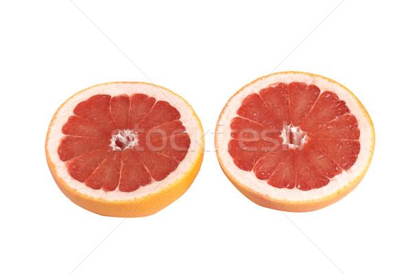 Jugoso piezas pomelo blanco aislado naturaleza Foto stock © lypnyk2
