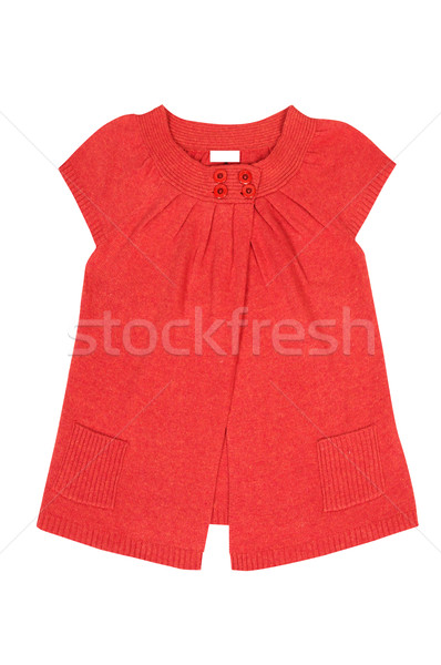 Moderna rojo túnica blanco elegante aislado Foto stock © lypnyk2