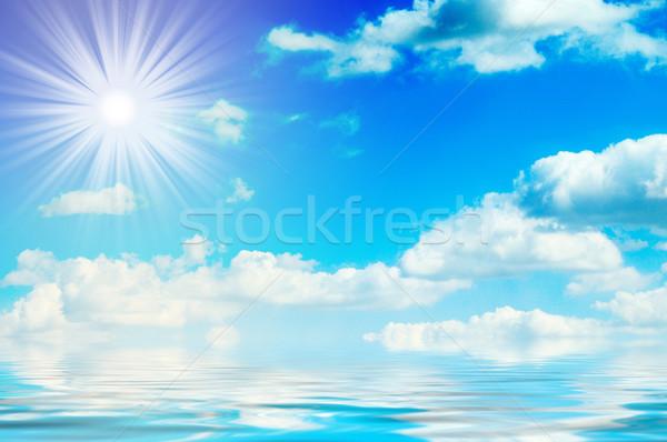 óceán égbolt nap kék ég gyönyörű természet Stock fotó © lypnyk2