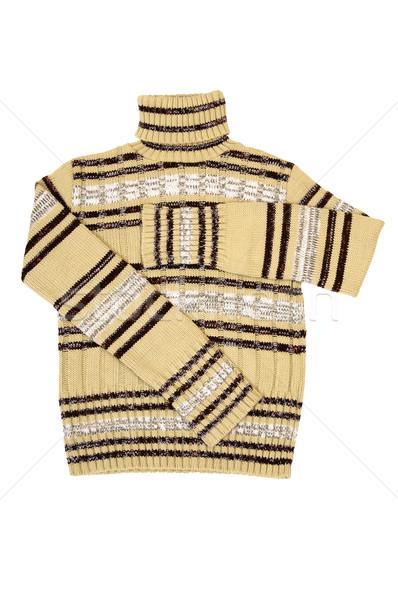 Winter sweater on a white. Stock photo © lypnyk2