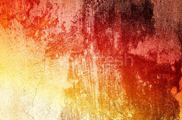 Antik öregedés fal viharvert öreg konzerv Stock fotó © lypnyk2