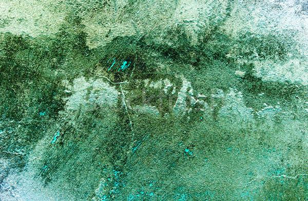 Sujo velho abstrato maravilhoso turquesa colorido Foto stock © lypnyk2