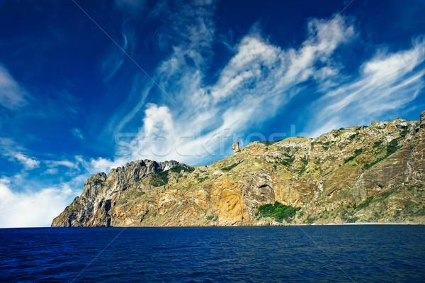 Mistica montagna meraviglioso rocce natura mare Foto d'archivio © lypnyk2