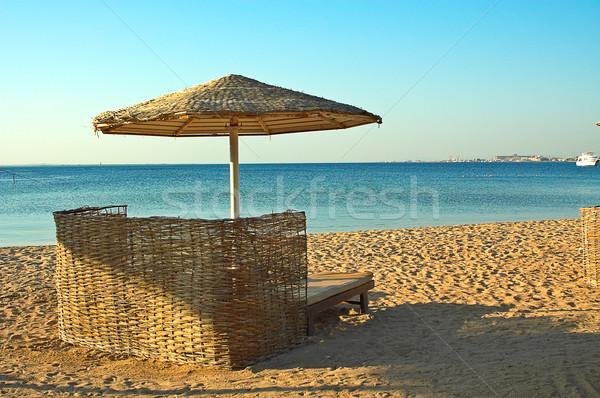 Spiaggia tropicale mar rosso sole mare estate sabbia Foto d'archivio © lypnyk2