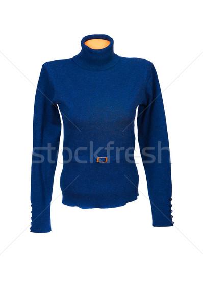 シック セーター 白 青 孤立した ファブリック ストックフォト © lypnyk2