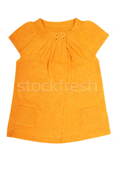 Modern  yellow  tunic on a white. Stock photo © lypnyk2