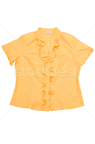 Moderna amarillo blusa blanco elegante aislado Foto stock © lypnyk2