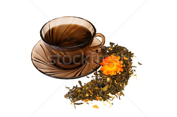 カップ 香ばしい 茶 白 1 ストックフォト © lypnyk2