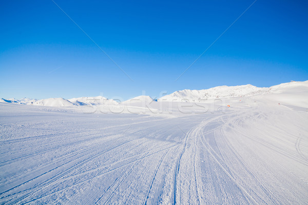 Track skiën sport technologie sneeuw Stockfoto © macsim
