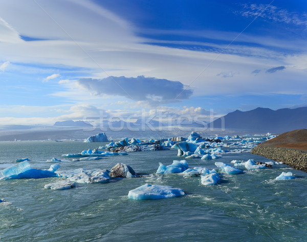 Hemel water natuur sneeuw winter Blauw Stockfoto © macsim