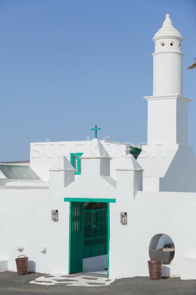 Church against deep blue sky Stock photo © macsim
