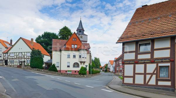 Romantische oude huizen typisch dorp panorama Stockfoto © macsim
