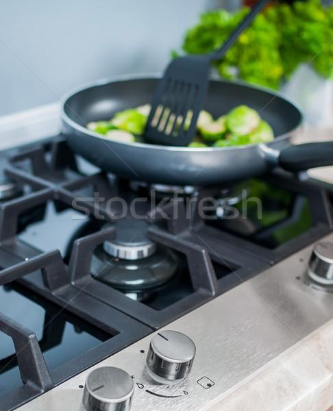 Verdura piatto preparato nero alimentare party Foto d'archivio © macsim