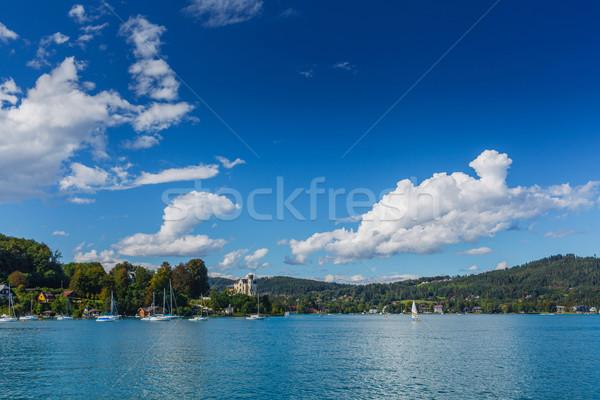 Berg meer alpen idyllisch zomer landschap Stockfoto © macsim