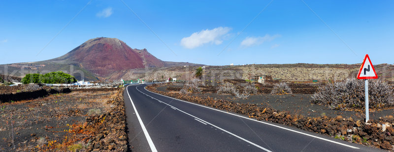 Empty road Lanzarote, Canary islands Stock photo © macsim