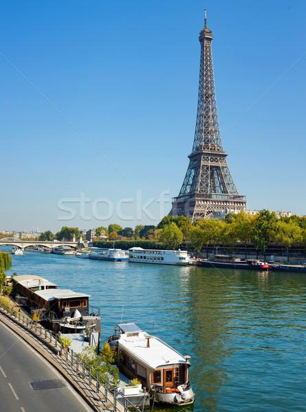мнение жизни Париж панорамный Эйфелева башня небе Сток-фото © macsim