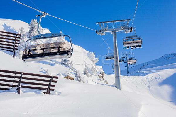 Sí lift székek fényes tél nap Stock fotó © macsim