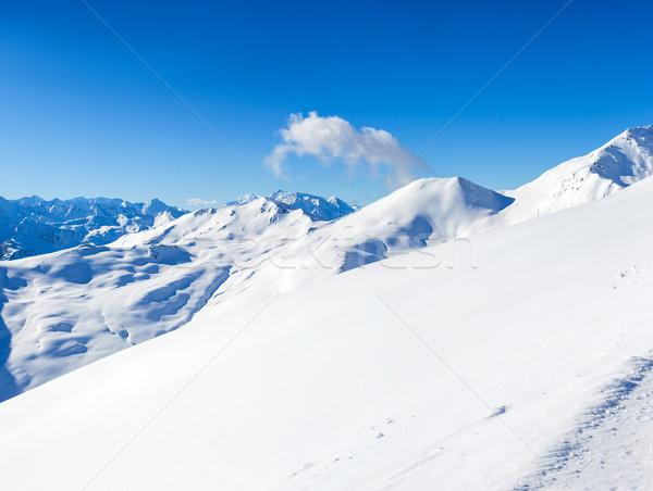 Alpine bergen sneeuw winter natuur berg Stockfoto © macsim