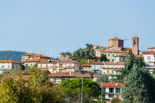 Cityscape of typical Tuscan town Stock photo © macsim