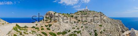 Vuurtoren panorama majorca Spanje landschap zee Stockfoto © macsim