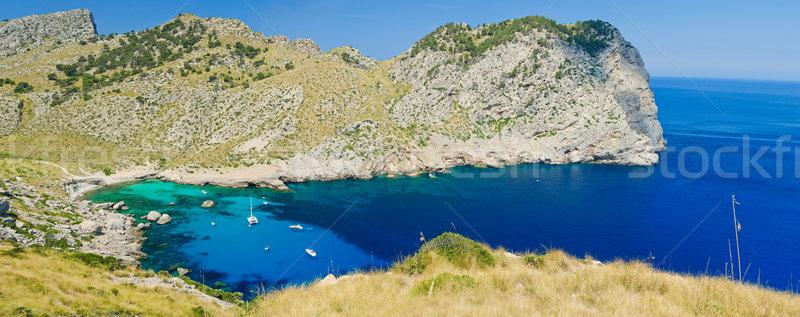 Spanje romantische panorama water wolken Stockfoto © macsim
