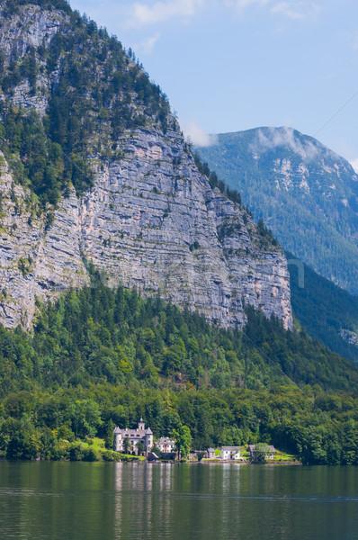 Mooie zomer alpine stad meer zie Stockfoto © macsim