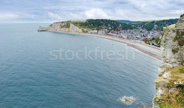 França normandia praia formação rochosa panorama natureza Foto stock © macsim